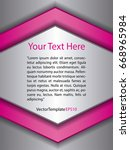 template silver  pink and white ...   Shutterstock .eps vector #668965984