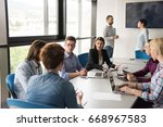 group of business people... | Shutterstock . vector #668967583