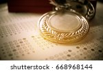 Small photo of Medals Awards for winner of competition, Honor students studying or testing exams in leading universities, school, Competitions and Education study concepts. vintage tone