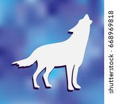 wolf icon isolated on... | Shutterstock .eps vector #668969818