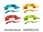 different color ribbons vector... | Shutterstock .eps vector #668982220