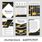 abstract vector layout... | Shutterstock .eps vector #668992909