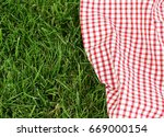 background for a picnic   plaid ... | Shutterstock . vector #669000154