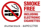 no smoking including electronic ... | Shutterstock .eps vector #669012700
