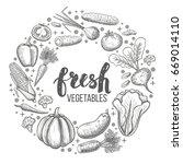 monochrome sketch style set of... | Shutterstock . vector #669014110