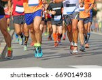 runners during the marathon on... | Shutterstock . vector #669014938