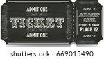 vintage old ticket | Shutterstock . vector #669015490