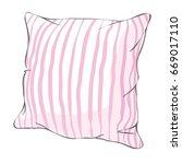 comfortable bed pillow  sketch  ...   Shutterstock .eps vector #669017110