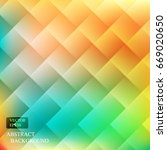 colorful background square... | Shutterstock .eps vector #669020650