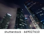 skyscrapers from a low angle... | Shutterstock . vector #669027610