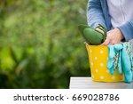 closeup of woman's hands... | Shutterstock . vector #669028786