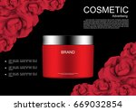 cosmetic cream with template... | Shutterstock .eps vector #669032854