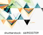 triangular low poly vector a4... | Shutterstock .eps vector #669033709