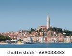the city of rovinj  croatia   Shutterstock . vector #669038383