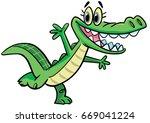 crocodile dance | Shutterstock .eps vector #669041224