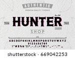 font.alphabet.script.typeface... | Shutterstock .eps vector #669042253