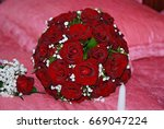wedding bouquet of flowers | Shutterstock . vector #669047224