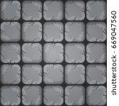 cartoon rocky seamless tile...
