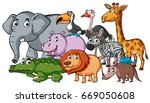 different kinds of wild animals | Shutterstock .eps vector #669050608