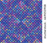 vector color triangle pattern.... | Shutterstock .eps vector #669053908