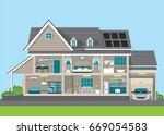 modern home design exterior and ...   Shutterstock .eps vector #669054583