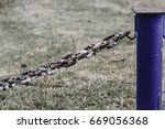 Small photo of Rusting chain - A broken ink in a chain and the weakest link