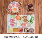 top view of traditional turkish ... | Shutterstock . vector #669060010