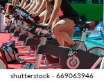 group of boys and girls at gym  ... | Shutterstock . vector #669063946