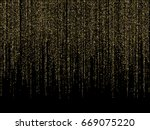 vector holiday shiny golden... | Shutterstock .eps vector #669075220