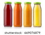 juice bottles isolated on...   Shutterstock . vector #669076879