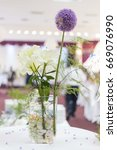Small photo of table flower decoration