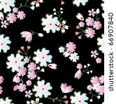 Seamless Japanese Blossoms...