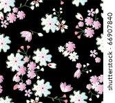 seamless japanese blossoms... | Shutterstock .eps vector #66907840