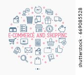 e commerce  shopping circle... | Shutterstock .eps vector #669085528