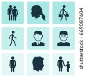 human icons set. collection of... | Shutterstock .eps vector #669087604