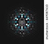 global security concept....   Shutterstock .eps vector #669087610