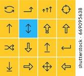 vector illustration of 16 sign... | Shutterstock .eps vector #669095638