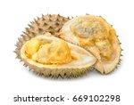 Rotten Durian Fruit Isolate On...