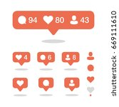 social network icons pack.... | Shutterstock .eps vector #669111610