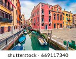 picturesque spring view of... | Shutterstock . vector #669117340