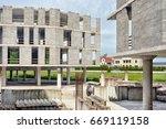 construction of a multi storey... | Shutterstock . vector #669119158