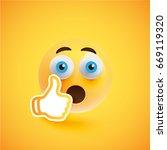 high detailed wondering yellow... | Shutterstock .eps vector #669119320