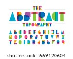 vector of modern abstract font... | Shutterstock .eps vector #669120604