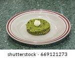 pure handmade green tea pound...   Shutterstock . vector #669121273