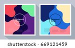 graphics with abstract shape... | Shutterstock .eps vector #669121459