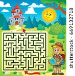 maze 3 with scout girl   eps10... | Shutterstock .eps vector #669132718