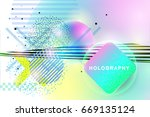 abstract vector holography and... | Shutterstock .eps vector #669135124