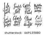life is food. food is an art.... | Shutterstock .eps vector #669135880