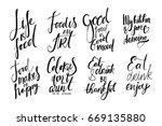 life is food. food is an art.... | Shutterstock .eps vector #669135880