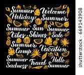 summer calligraphy design.... | Shutterstock .eps vector #669143908